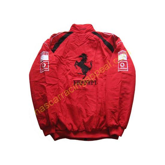 Ferrari Racing F1 Jacket Red with White Trim