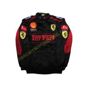 Ferrari F1 Racing Team Jacket Black with Red Trim