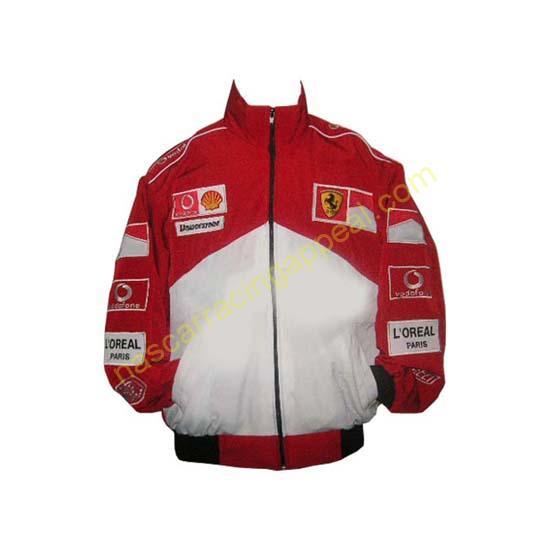 Ferrari Michael Schumacher Red and White Jacket