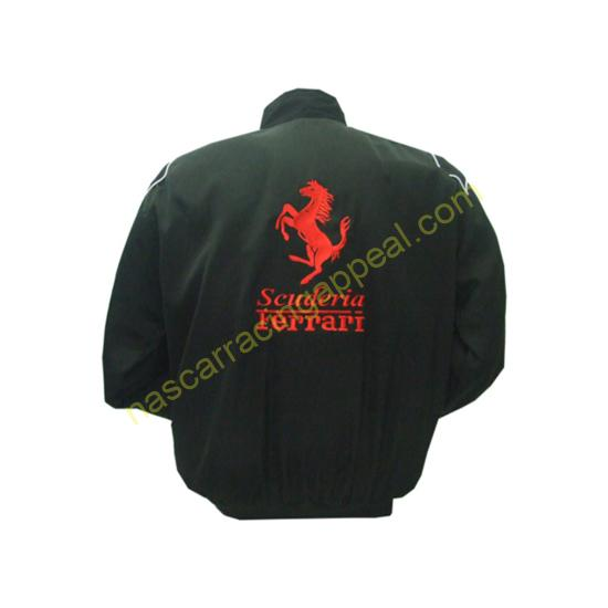 Ferrari Piaggio Aero Black F1 Racing Jacket