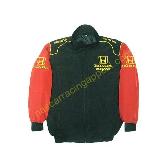 Honda Civic Racing Jacket Black and Red