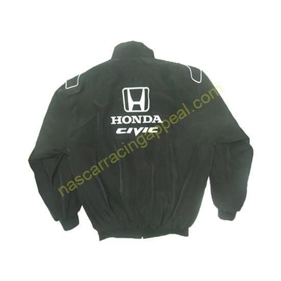 Honda Civic Racing Jacket Black