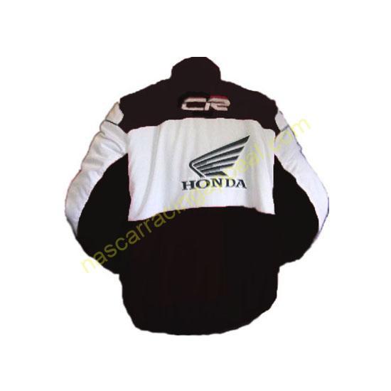 Honda CR Racing Jacket Black and White
