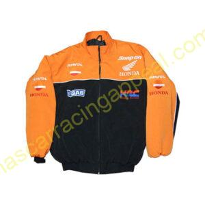 Honda HRC Snap-on Orange Black Jacket