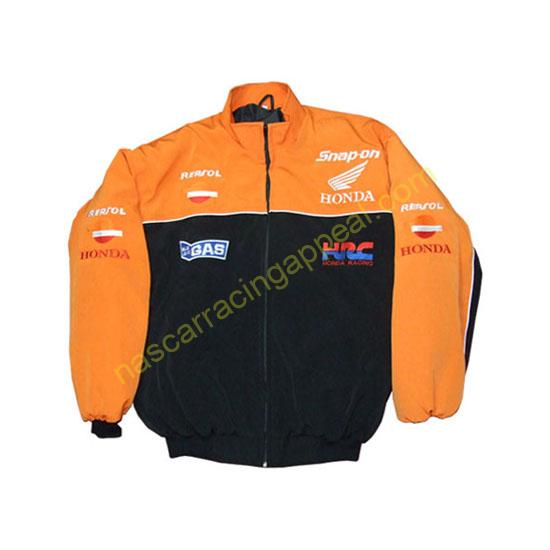 Honda HRC Snap-on Orange Black Jacket