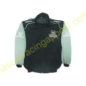 Honda S2000 Racing Jacket Black and Light Gray