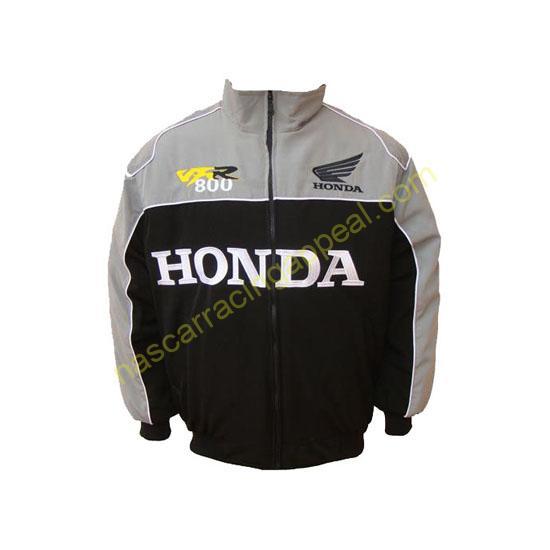 Honda VFR 800 Racing Jacket Light Gray and Black
