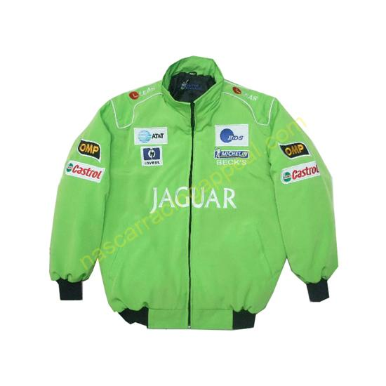 Jaguar Light Green Racing Jacket