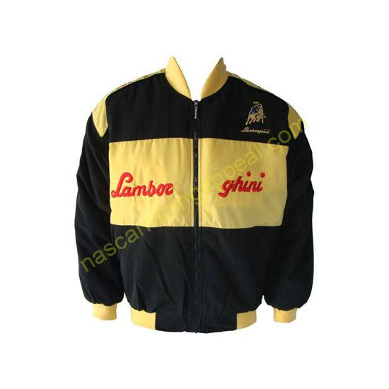 Lamborghini Racing Jacket Black and Yellow