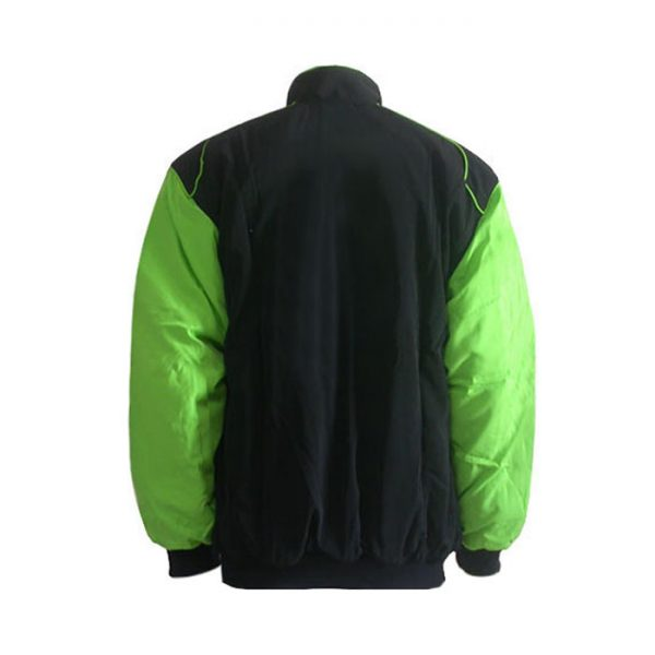 Plain Jacket Black with Light Green Sleeves