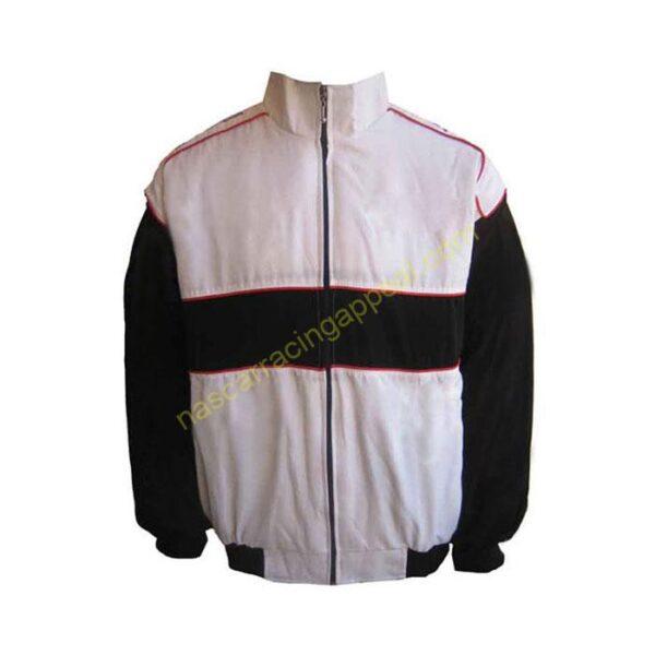 Plain Jacket White and Black