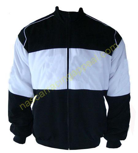 Plain Jacket Black with White