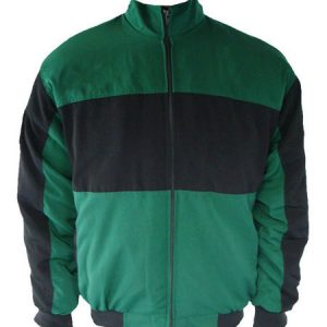 Plain Jacket Green and Black