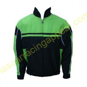 Plain Jacket Jacke Black and Green