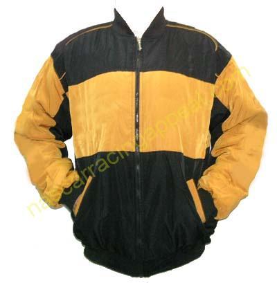 Plain Jacket Black and Light Orange