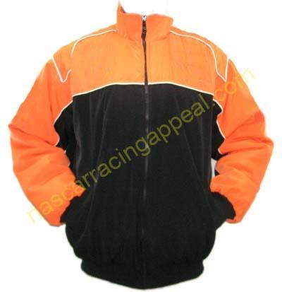 Plain Jacket Orange and Black