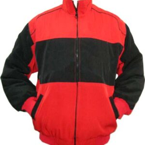 Plain Jacket Red and Black